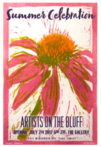 2017 Artists on the Bluff Exhibition Show Poster